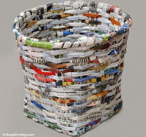 ساخت وسایل دکوری زیبا با روزنامه های قدیمی