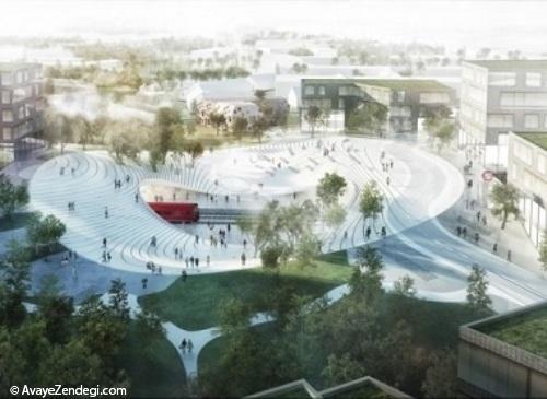طراحی مسیر مواج ایستگاه قطار در دانمارک