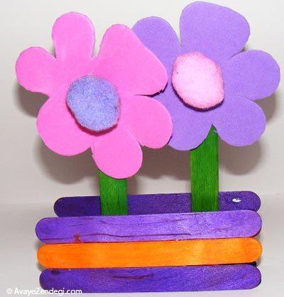 کاردستی جعبه گل برای روز مادر