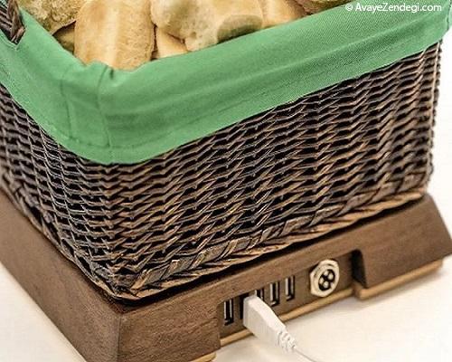 سبد نانی که گوشی شما را شارژ می کند!