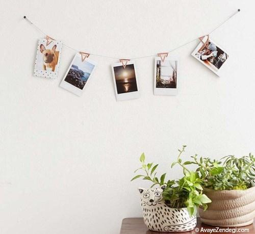 دیوار اتاقتان را با قاب عکس های متوالی زیباتر کنید!