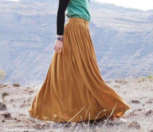 دامن و پیراهن زنانه بلند چگونه پوشیده می شود؟ (1)