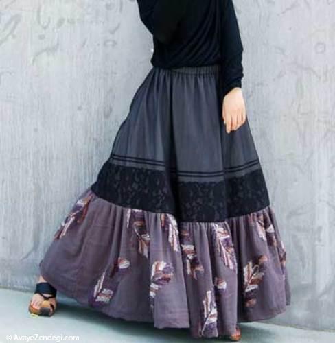 دامن و پیراهن زنانه بلند چگونه پوشیده می شود؟ (2)